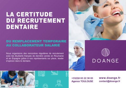recrutement dentaire avec certitude via DOANGE